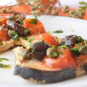 Pesce spada e pomodorini Pachino