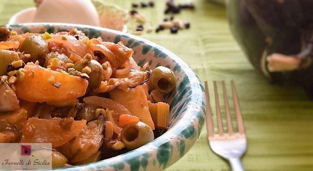 Caponata di patate e melanzane