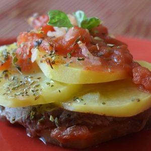 carne murata al forno con patate
