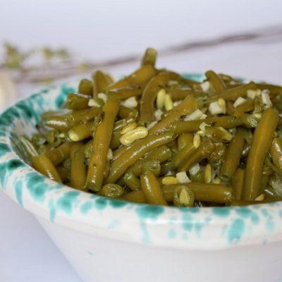 fagiolini con aglio origano