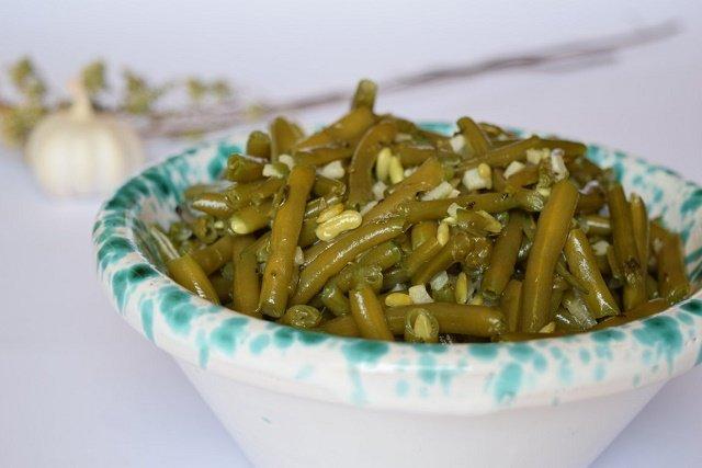 Fagiolini con aglio e origano