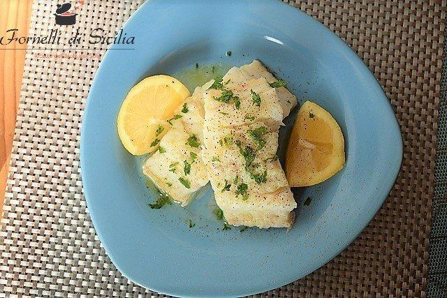 baccala con olio e limone