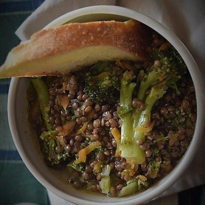 zuppa lenticchie broccoletti