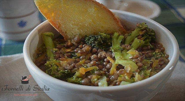 minestra lenticchie sparaceddi