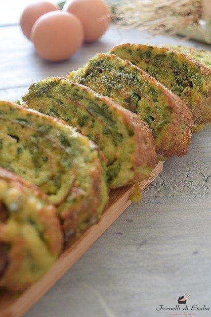 Ricetta Frittata Con Asparagi.Frittata Di Asparagi Selvatici Fornelli Di Sicilia