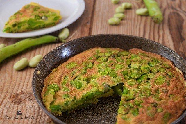 Frittata di fave: ricetta saporita e veloce