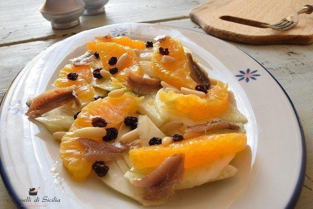 insalata arance e acciughe finocchi