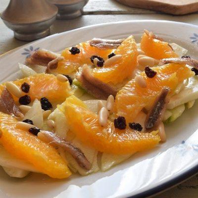 insalata arance finocchi acciughe