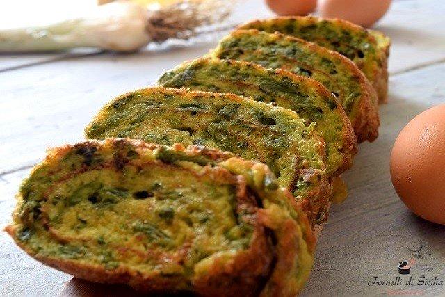 frittata con asparagi selvatici