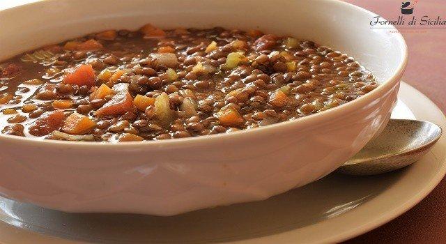 ricetta zuppa di lenticchie