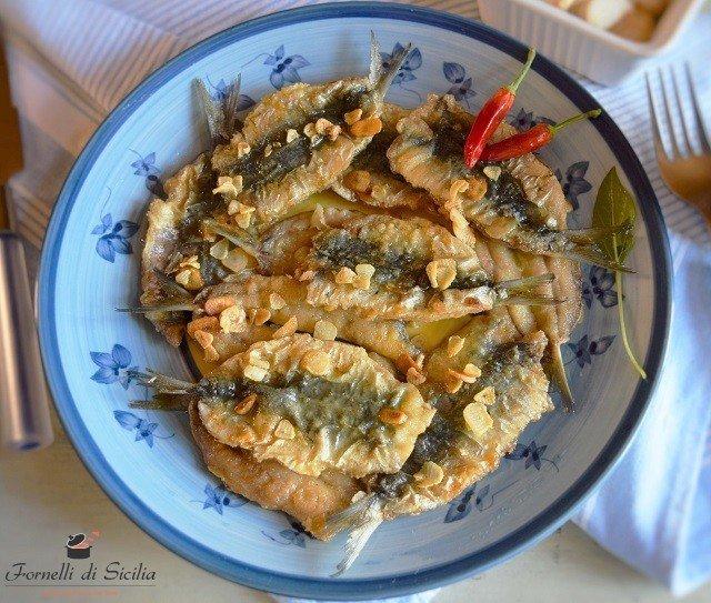 ricetta sarde con aglio