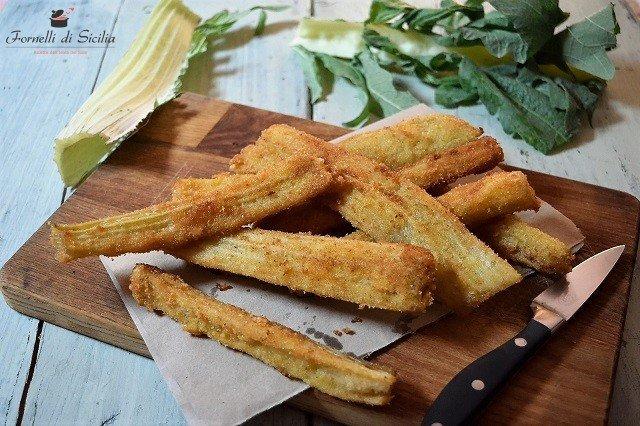 ricetta cardi fritti