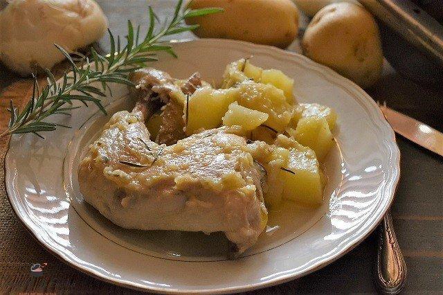 pollo aggrassato con patate
