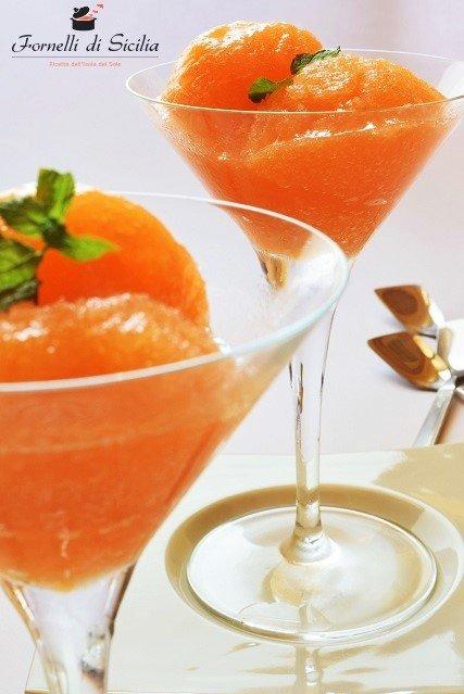 Sorbetto di melòne Cantalupo: dessert siciliano