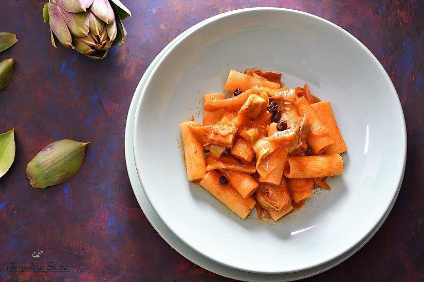 ricetta pasta sugo di carciofi