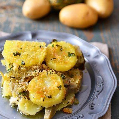 sformato carciofi e patate al forno