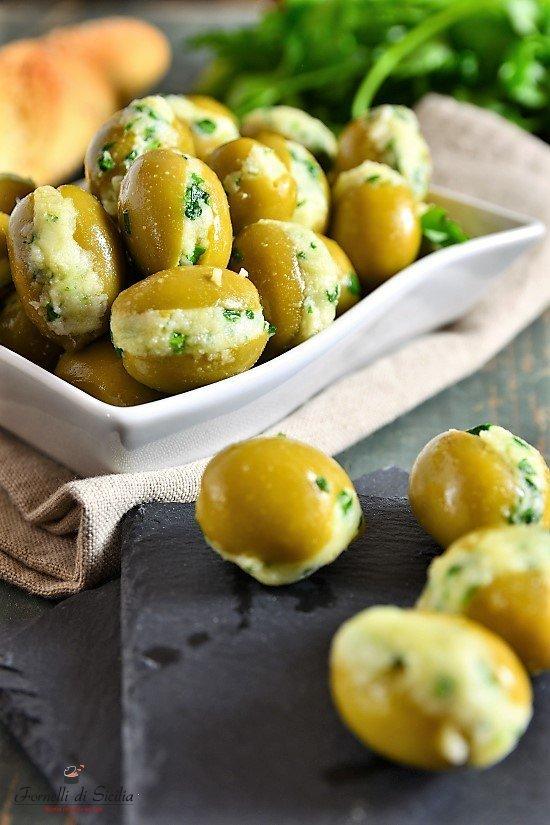 olive ripiene con mollica