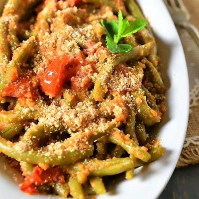 fagiolini all'agro con pangrattato