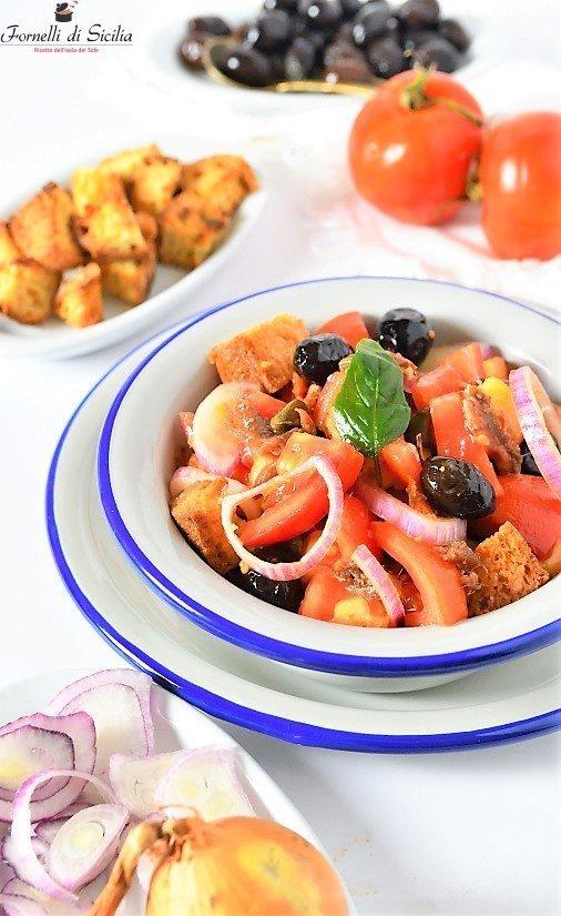 Panzanella siciliana a modo mio