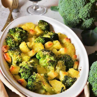 broccoletti e patate al forno