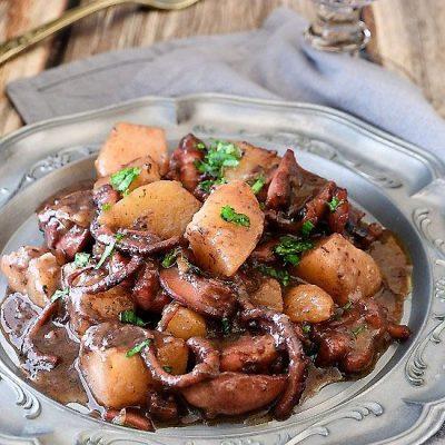 polpo con patate in umido