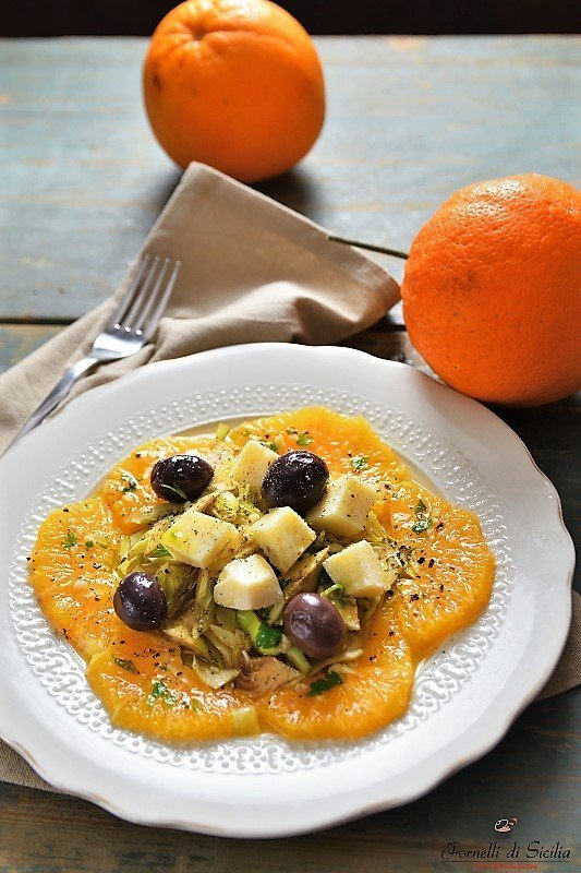 insalata di carciofi e arance