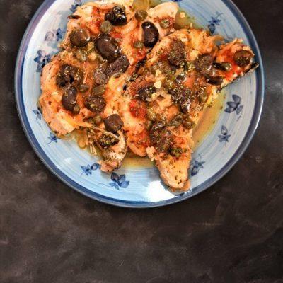 tonno alalunga con olive e pomodorini