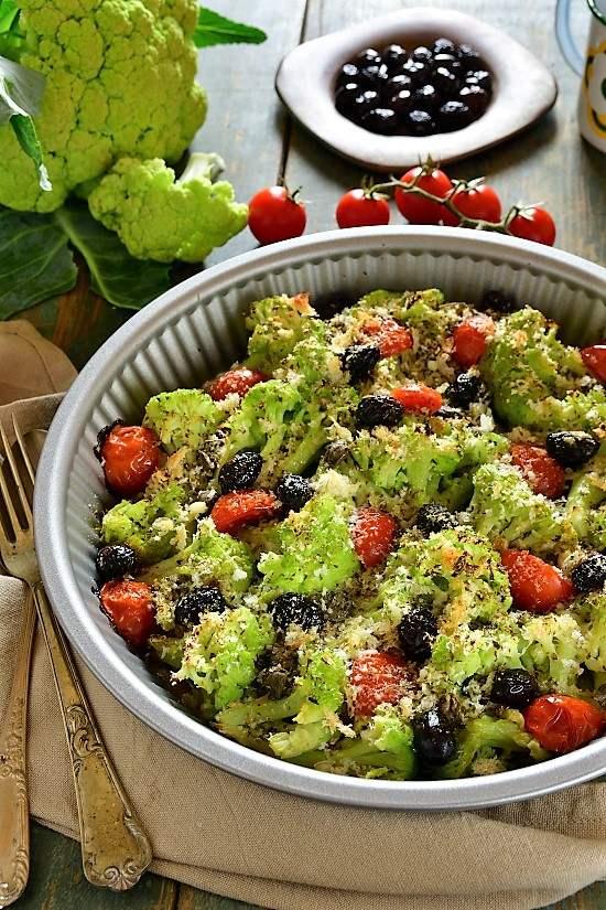 Cavolfiore (broccolo) gratinato alla siciliana