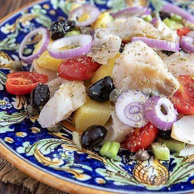 insalata di pesce stocco alla messinese