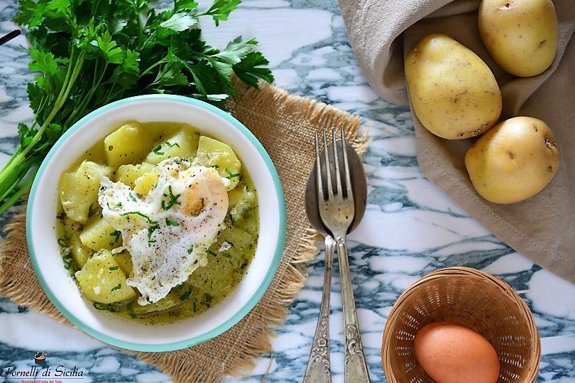 Uova e patate a spezzatino: antica ricetta