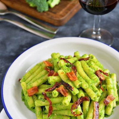 pasta con pesto di broccoli